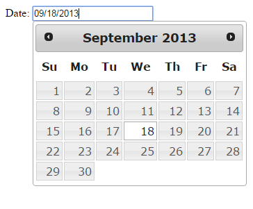 jquery datepicker basic