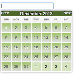 jquery datepicker customized CSS