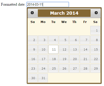 jquery datepicker formatdate