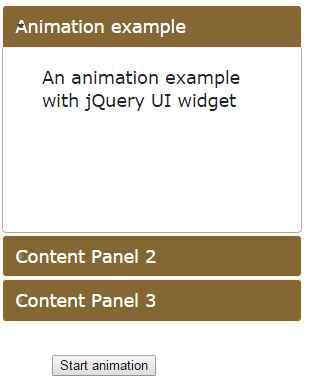 jquery animate accordion