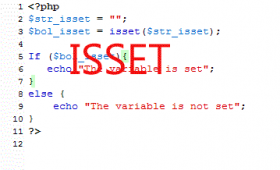 PHP isset and unset with 5 examples and code
