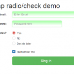 Ways to use Bootstrap radio buttons with 4 examples