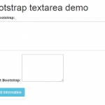 2 demos of textarea in Bootstrap forms