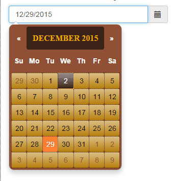 Bootstrap date picker