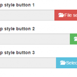 Bootstrap / jQuery input type file upload buttons and script