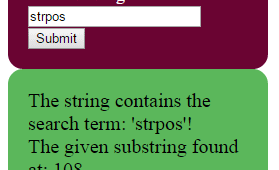 Search strings by PHP strpos / stripos functions | 4 demos