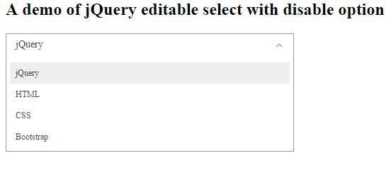 jQuery select