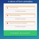 HTML Form validation with animations by jQuery: 4 demos