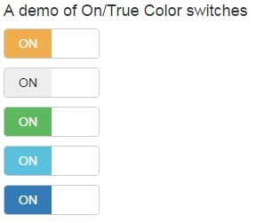 Bootstrap checkbox switch colors