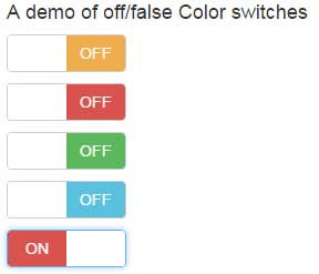 Bootstrap checkbox switch color-off