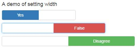 Bootstrap switch width