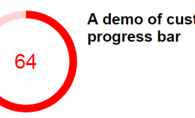 A jQuery radial progress bar plug-in with 4 demos