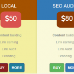 A Bootstrap pricing table free template with CSS