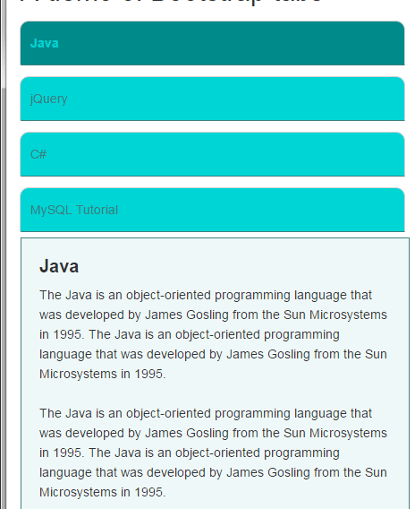 Bootstrap tabs responsive