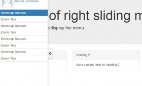A Bootstrap sliding side menu with jQuery: 2 demos