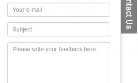 Bootstrap feedback / contact sliding form by using jQuery