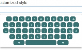 A touch keyboard using Bootstrap with jQuery: 5 demos