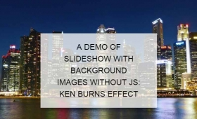 A pure CSS background image as slideshow solution with 2 examples