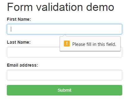 Bootstrap Validation With Custom Error Message By Using JQuery