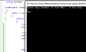 3 examples to learn C# switch case statement