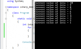 C# for loop: Explained with 4 examples