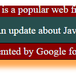 jquery scroll text style