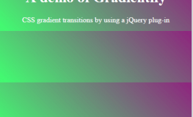 3 demos of CSS gradient transitions by jQuery plug-in
