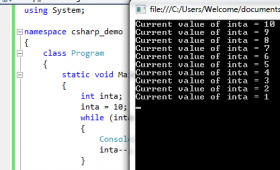 C# while and do while loops with 3 examples