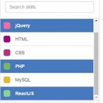 A Bootstrap / jQuery based select box with search and multi-select options