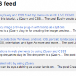 jQuery RSS reader plug-in with HTML presentation in your web pages