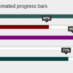 3 Demos of animated bar filling for progress or charts by jQuery: barfiller