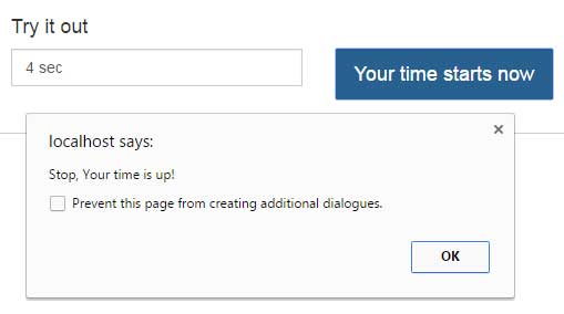 jQuery timer duration