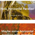 2 Demos of vertical and horizontal jQuery parallax effect plug-in – paroller.js