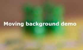3 Demos of jQuery background image moving plug-in: backgroundMove.js