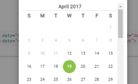 3 Demos of Angular JS date / time picker (with range)