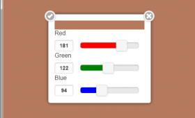 The jQuery based color picker widget