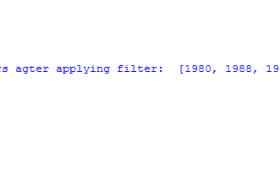 The filter function in Python