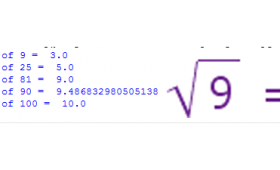 The sqrt(x) function in Python