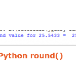 The round function in Python