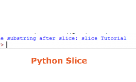 What is Python slice?