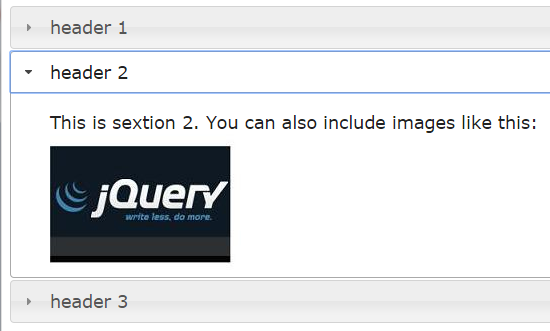 jquery accordion basic