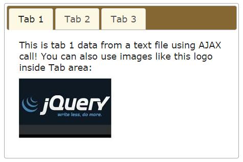 jquery tab ajax