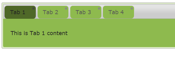 jquery tab close