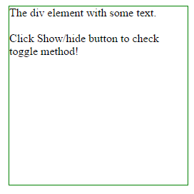 Jquery toggle method to show hide elements with 6 examples - Jquery hide div ...
