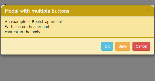 Bootstrap modal header body footer