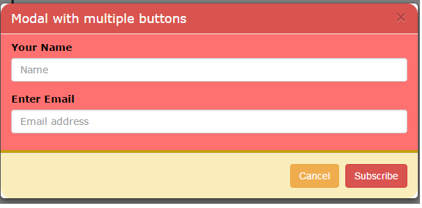 Bootstrap modal form