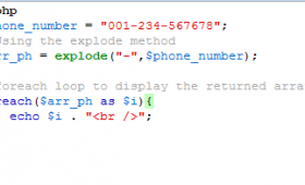 PHP explode method to split a string with 3 examples