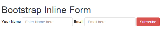 Bootstrap inline form