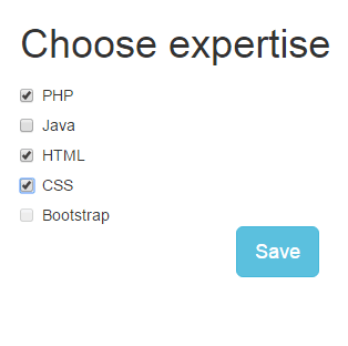 Bootstrap checkbox multiple