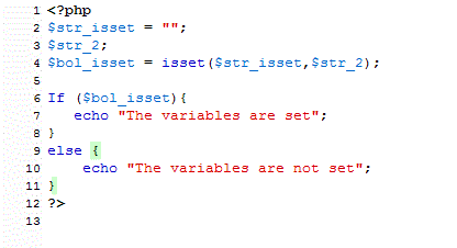 php if isset